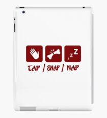 Tap / Snap / Nap (BJJ / Judo / Wrestling) iPad Case/Skin