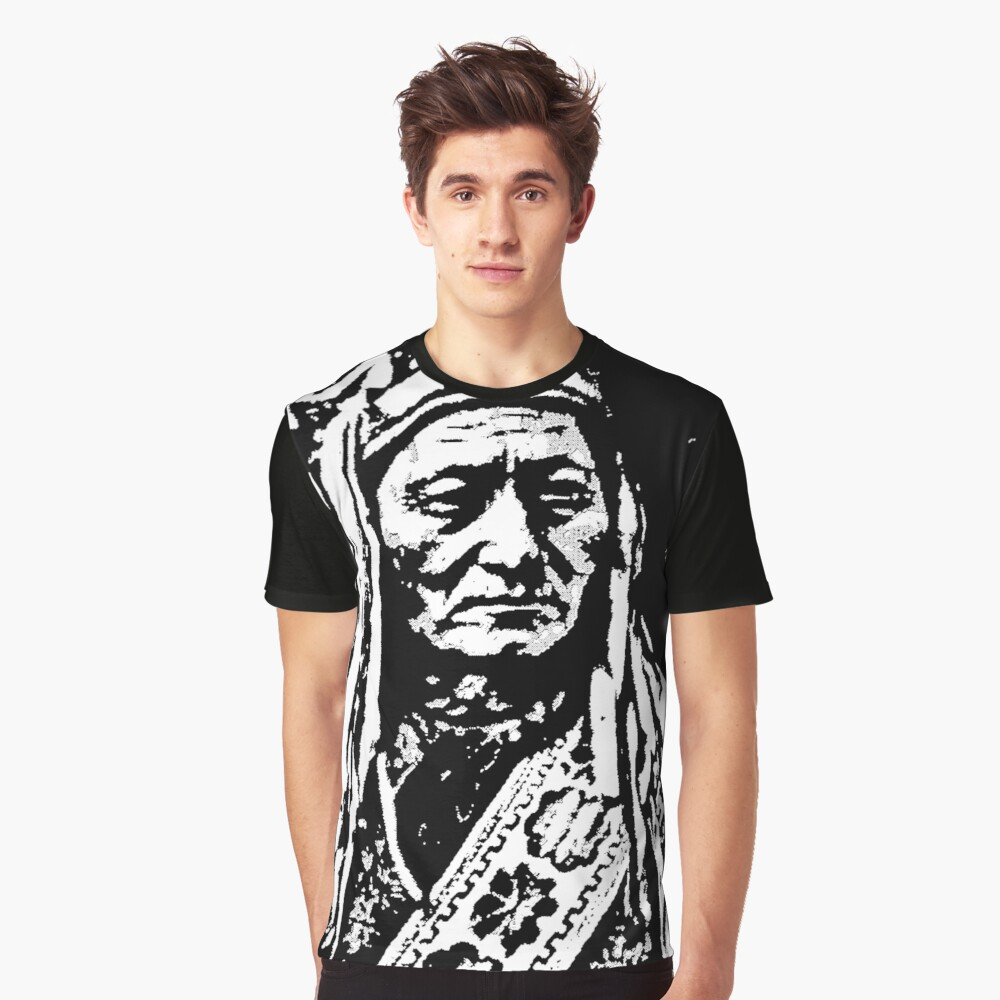 SITTING BULL-2A Graphic T-Shirt Front