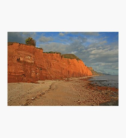 Red Cliffs II, Sidmouth, Devon Photographic Print