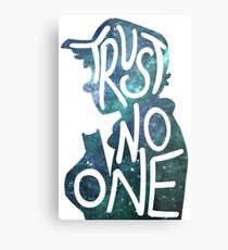 Trust No One / Galaxy Falls Dipper Metal Print