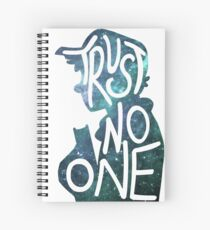Trust No One / Galaxy Falls Dipper Spiral Notebook