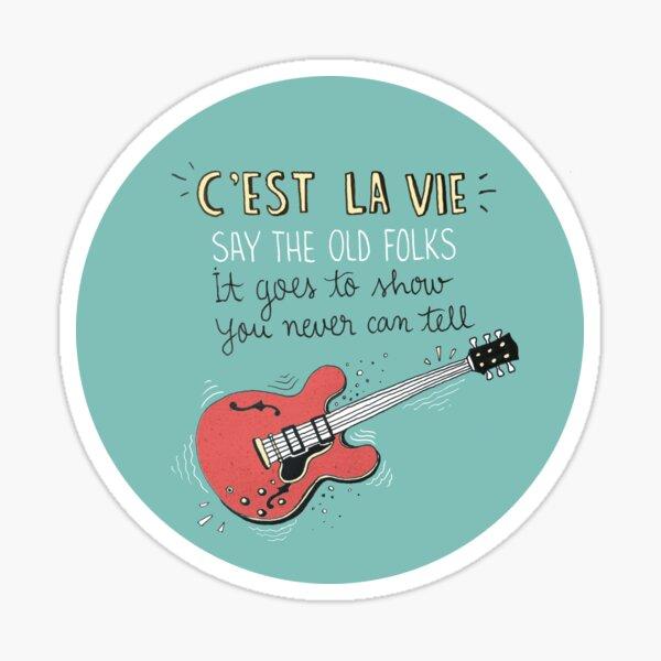 Chuck Berry Tribute Illustration Sticker