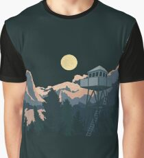 Moonlit Watchtower Graphic T-Shirt