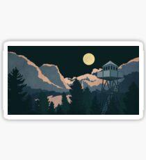 Moonlit Watchtower Sticker