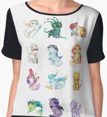 League of Support Cats ! Chiffon Top
