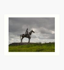 The Horseman at Roscommon Ireland Art Print
