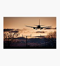 Boeing 737 - Landing at Sunset - United Kingdom - Fine Art Photography Photographic Print