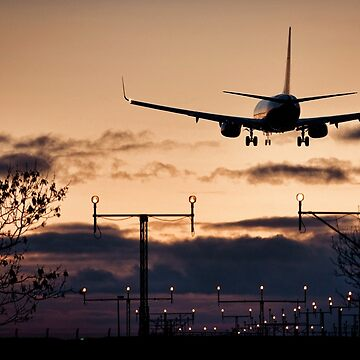 Boeing 737 - Landing at Sunset - United Kingdom - Fine Art Photography by MattyTM