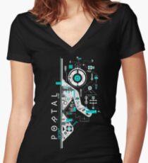 Portal 2 Art Women's Fitted V-Neck T-Shirt