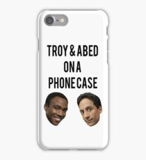 Troy and Abed on a phone case iPhone Case/Skin