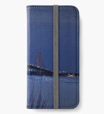 Winter at the Mackinac Bridge iPhone Wallet/Case/Skin