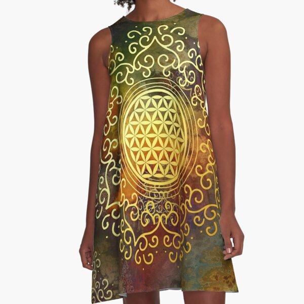 Flower Of Life (Batik 1) A-Line Dress