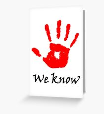 We Know Greeting Card