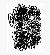Graffiti TAGs  Photographic Print