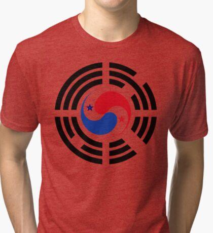 Korean Panamanian Multinational Patriot Flag Series Tri-blend T-Shirt