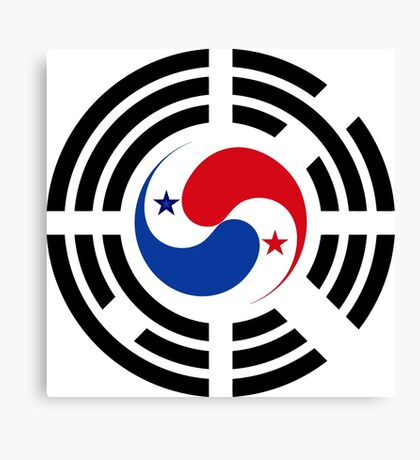 Korean Panamanian Multinational Patriot Flag Series Canvas Print