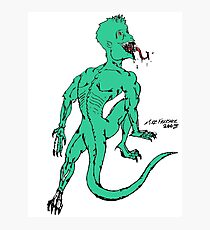 Green Psycho Lizard Photographic Print