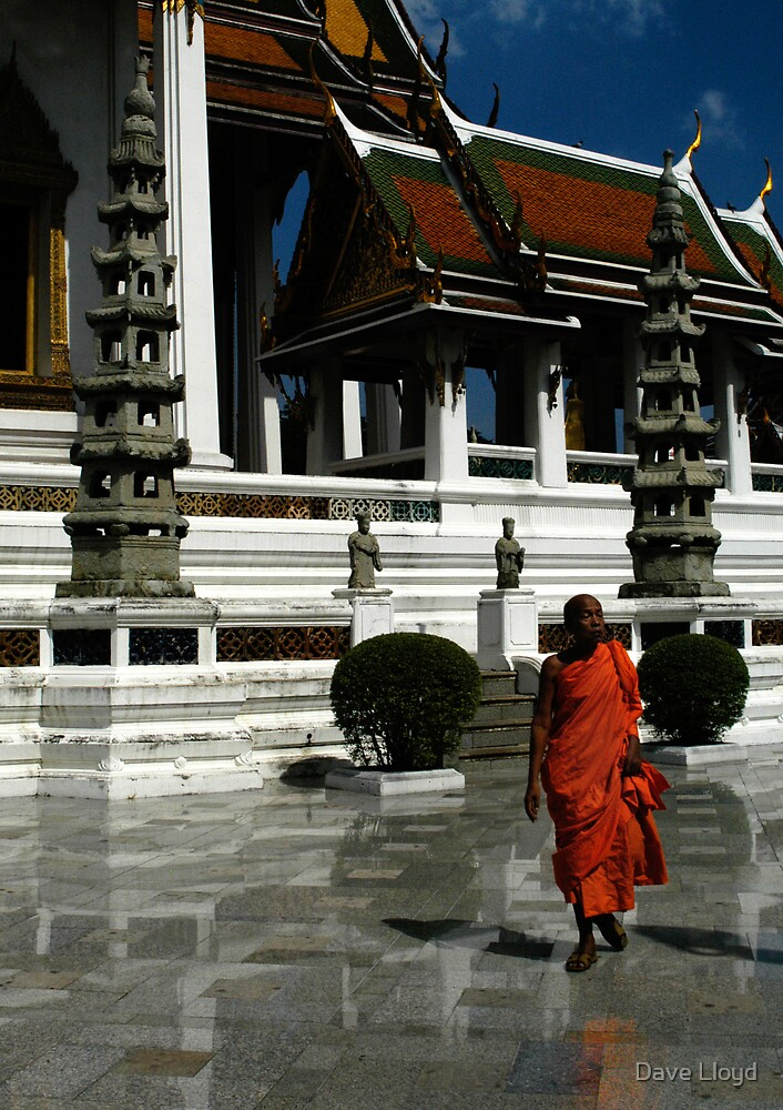Monk At Wat Suthat by Dave Lloyd