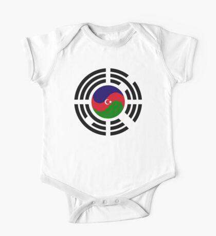 Korean Azerbaijan Multinational Patriot Flag Series Kids Clothes