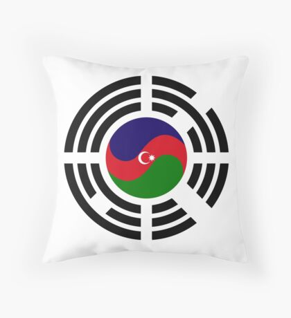 Korean Azerbaijan Multinational Patriot Flag Series Throw Pillow
