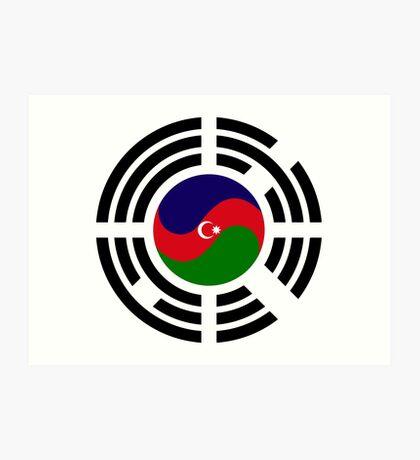 Korean Azerbaijan Multinational Patriot Flag Series Art Print