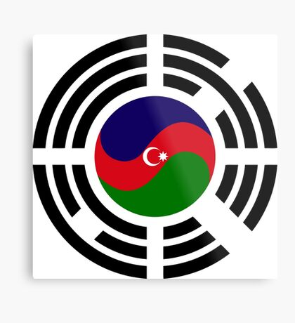 Korean Azerbaijan Multinational Patriot Flag Series Metal Print