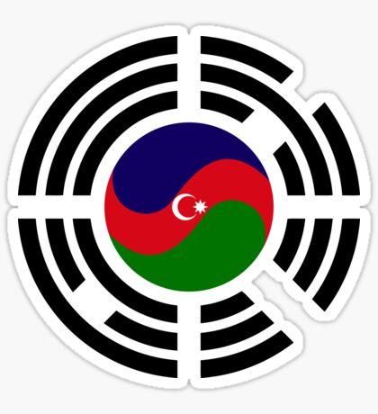 Korean Azerbaijan Multinational Patriot Flag Series Sticker