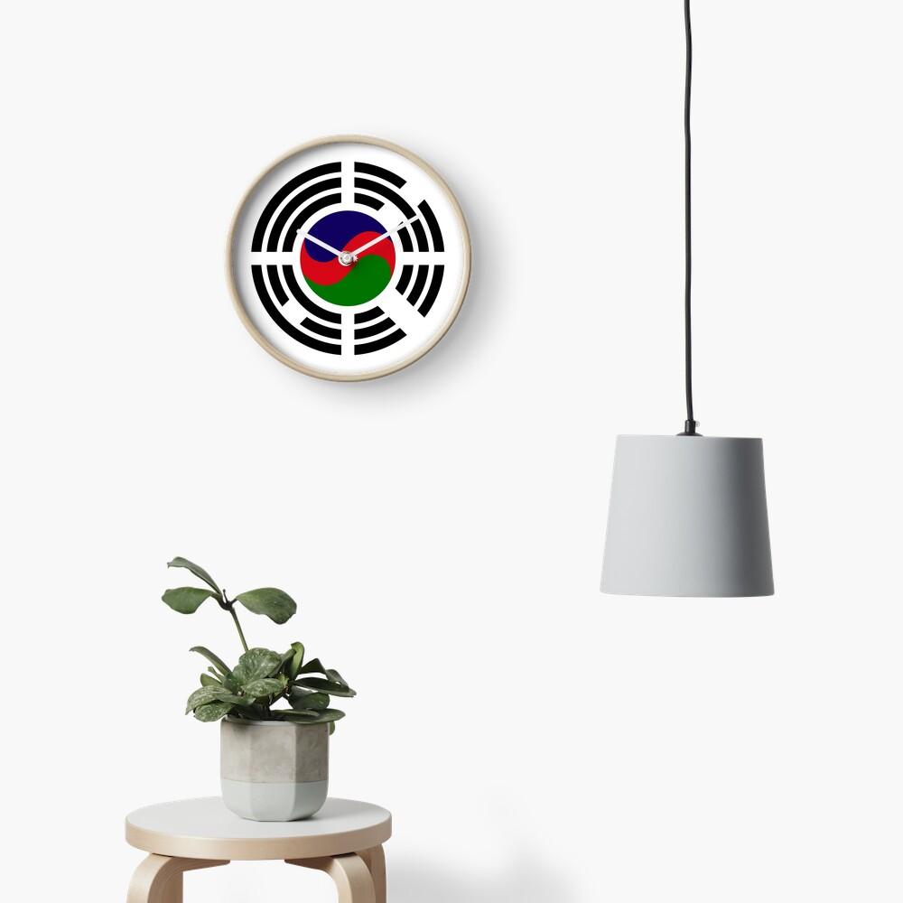 Korean Azerbaijan Multinational Patriot Flag Series Clock