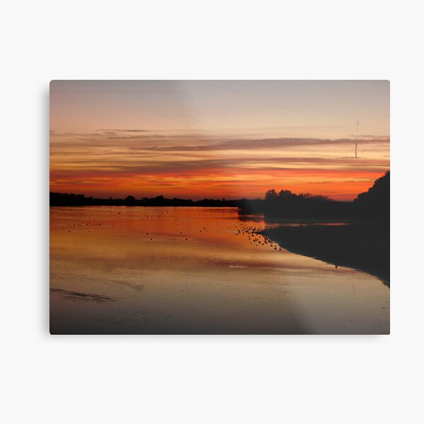 Sunset over Abberton Metal Print