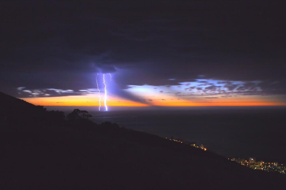 Thunderstorm over the Sea by Johann  Koch