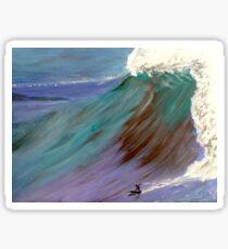 Surfer. Ocean wave Sticker