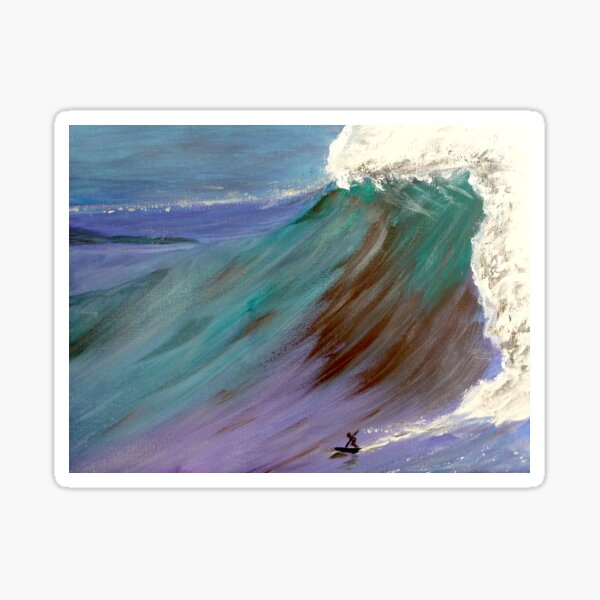 Surfer. Ocean wave Sticker