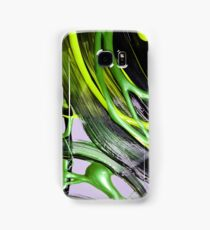 Painted background texture with green and black stripes Samsung Galaxy Case/Skin