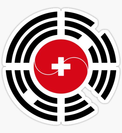 Korean Swiss Multinational Patriot Flag Series Sticker