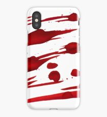 Red Ink Splash iPhone Case/Skin
