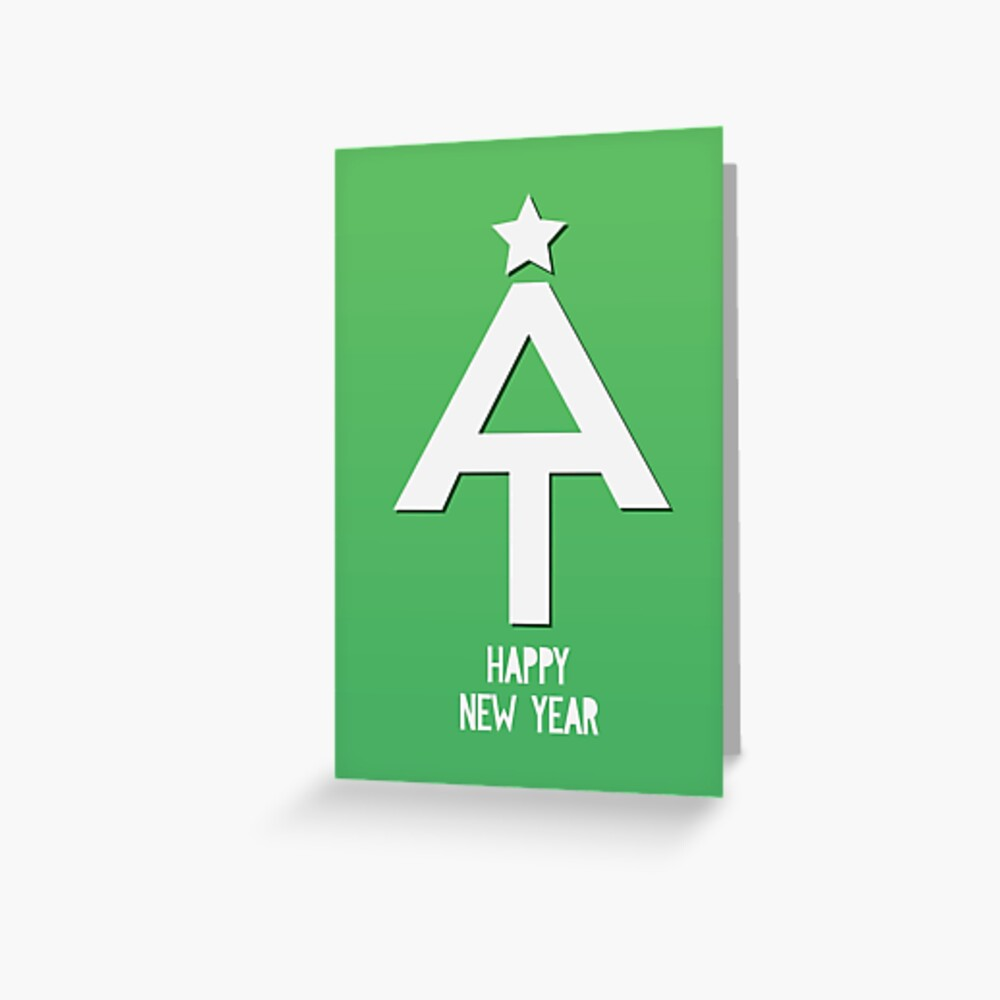 Appalachian Trail Happy New Year Greeting Card
