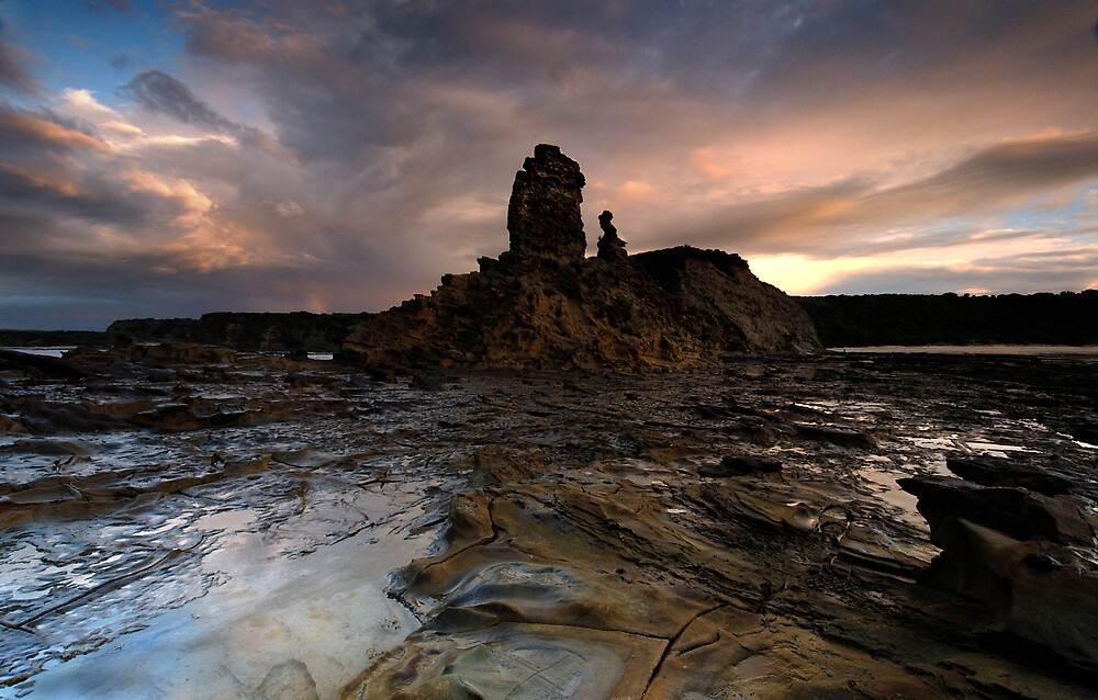 Stormy Eagles Nest Dawn by Robert Mullner