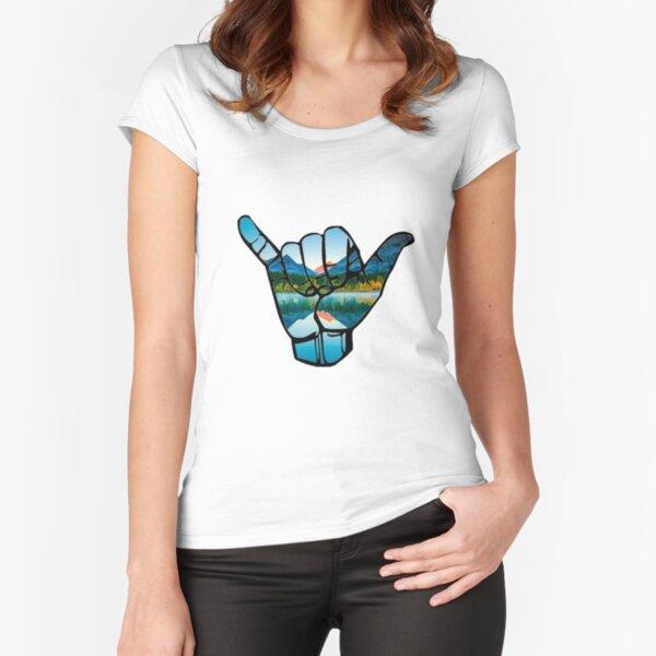 Shaka Like Hand Sapphire Blue Adult T-Shirt