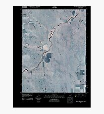 USGS TOPO Map Colorado CO Willow Creek Ranch 20100920 TM Inverted Photographic Print