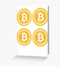 Bitcoin 4some Greeting Card