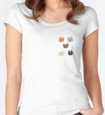 Kriegerkatzen // die ursprünglichen fünf! Tailliertes Rundhals-Shirt