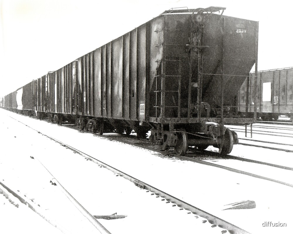 Solarized train by diffusion