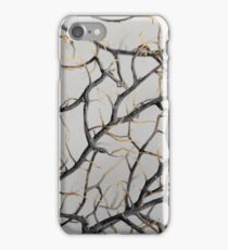 Macro photo of a dry gorgonian coral. iPhone Case/Skin