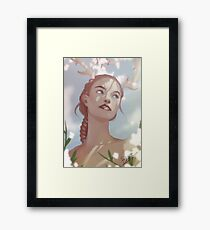 beautiful painted lady Framed Print