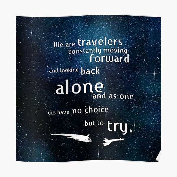 We Are Travelers Poster