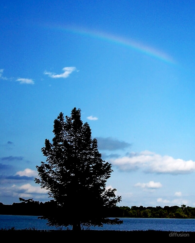 Rainbow over the Lake by diffusion