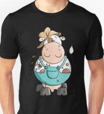 Farmer Cow Cartoon T-Shirt