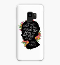 Jane Austen Quote  Case/Skin for Samsung Galaxy