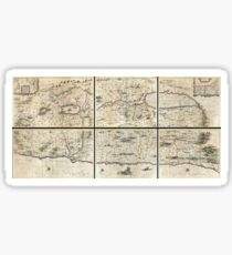 Antique Map - Jansson's Holy Land (1662) Sticker