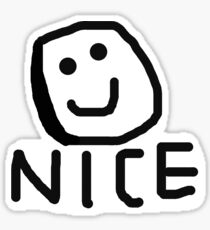 Nice Happy Face Sticker Sticker